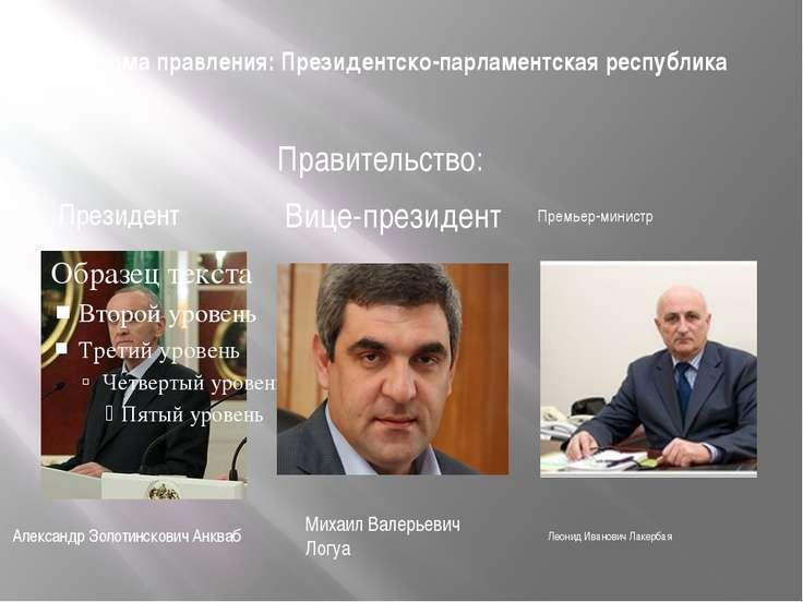 Форма правления: Президентско-парламентская республика Михаил Валерьевич Логу...