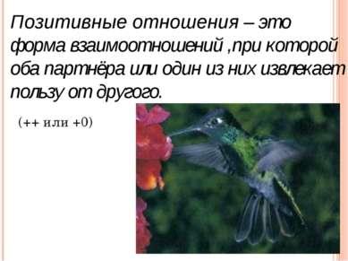 Позитивные отношения – это форма взаимоотношений ,при которой оба партнёра ил...