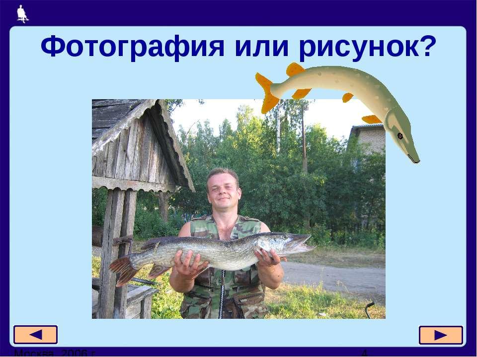 Фотография или рисунок? Москва, 2006 г.