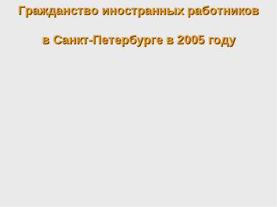 Гражданство иностранных работников в Санкт-Петербурге в 2005 году