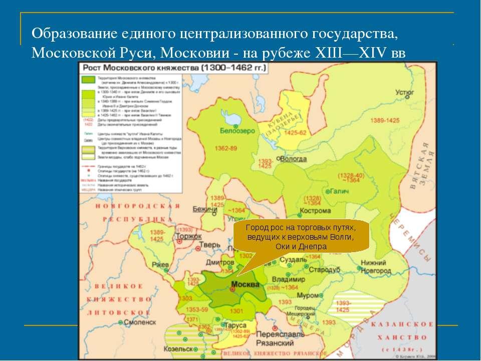 Образование единого централизованного государства, Московской Руси, Московии ...