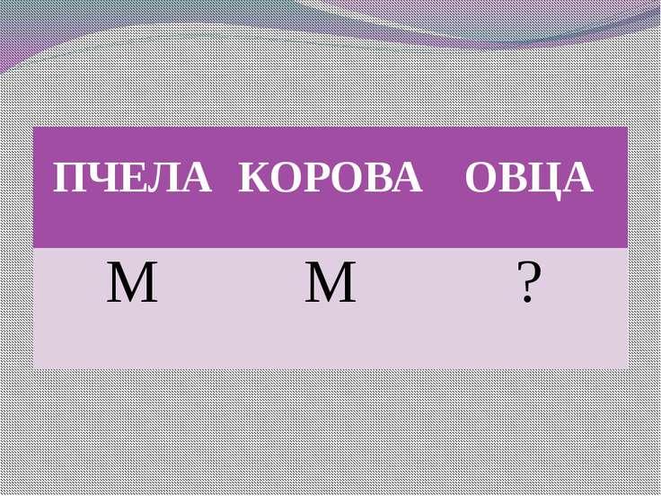 ПЧЕЛА КОРОВА ОВЦА М М ?
