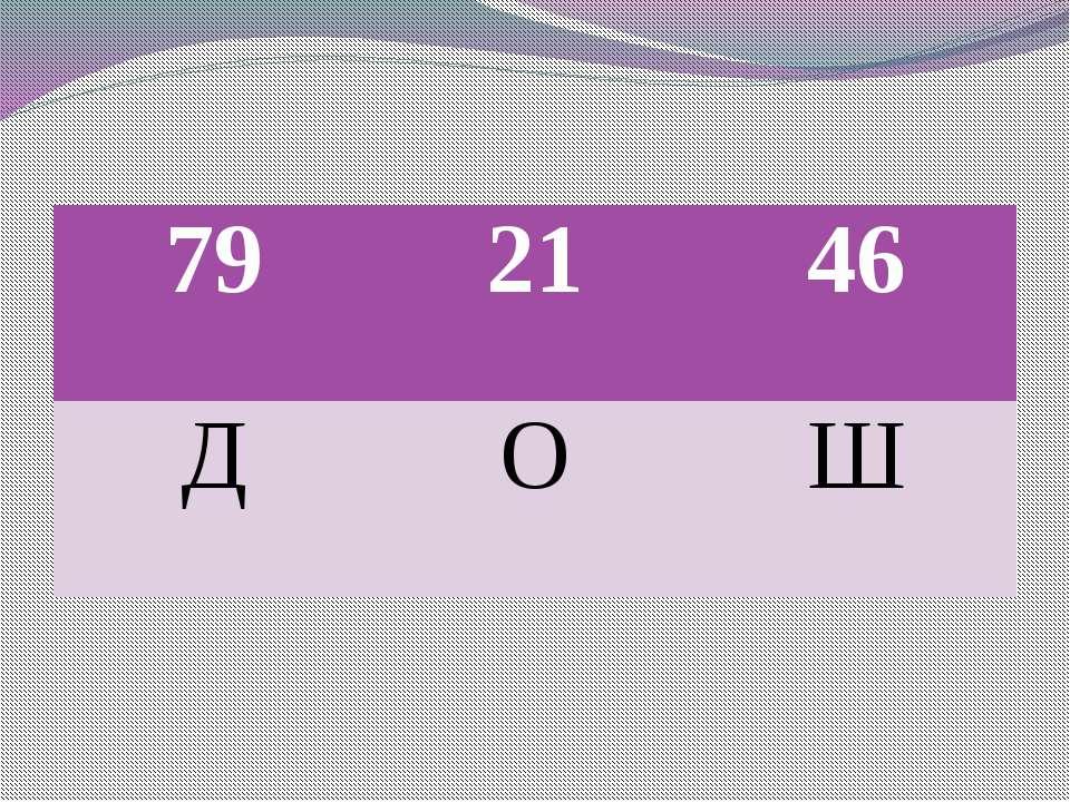 79 21 46 Д О Ш