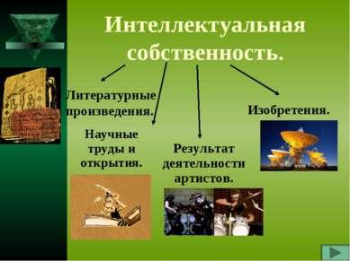 Интеллектуальная собственность. Литературные произведения. Научные труды и от...