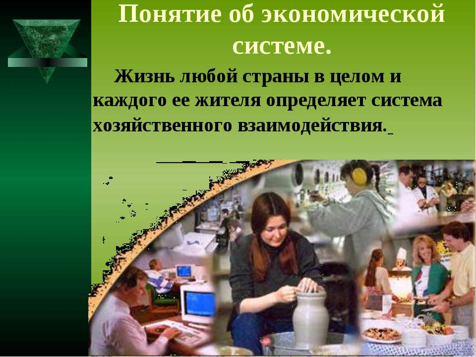 Понятие об экономической системе. Жизнь любой страны в целом и каждого ее жит...