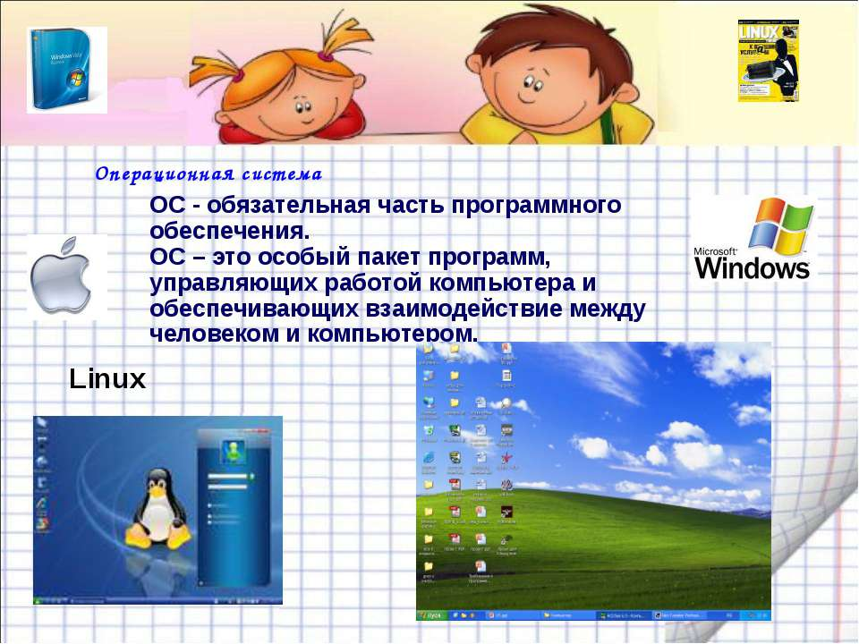 Операционная система ОС - обязательная часть программного обеспечения. ОС – э...