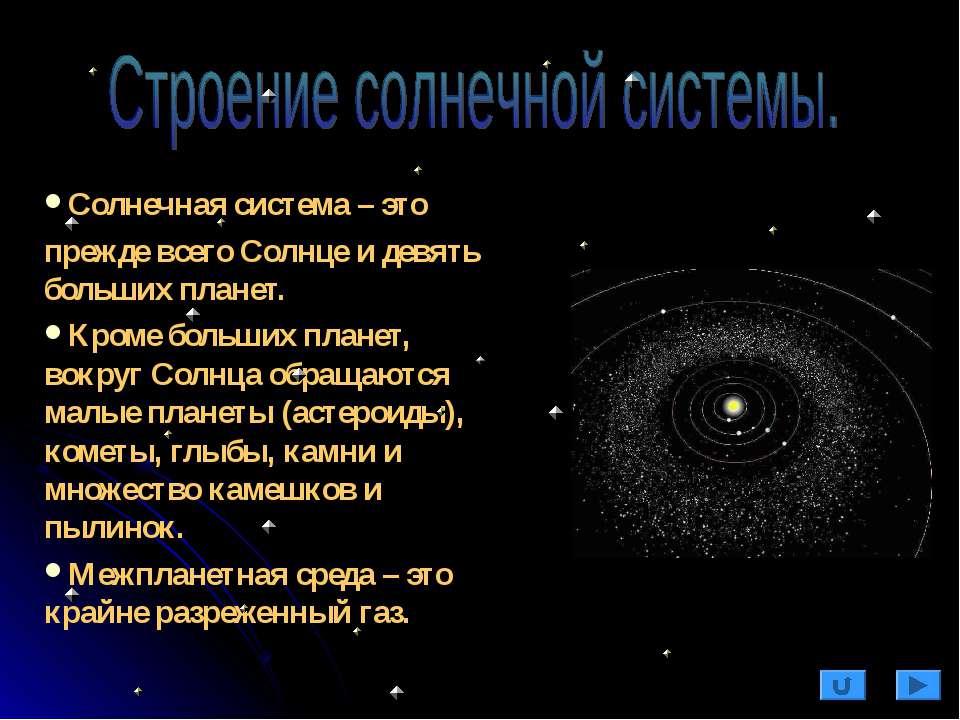 Солнечная система – это прежде всего Солнце и девять больших планет. Кроме бо...