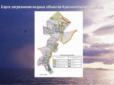 Карта загрязнения водных объектов Красносельского района