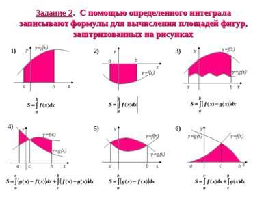 Задание 2. С помощью определенного интеграла записывают формулы для вычислени...