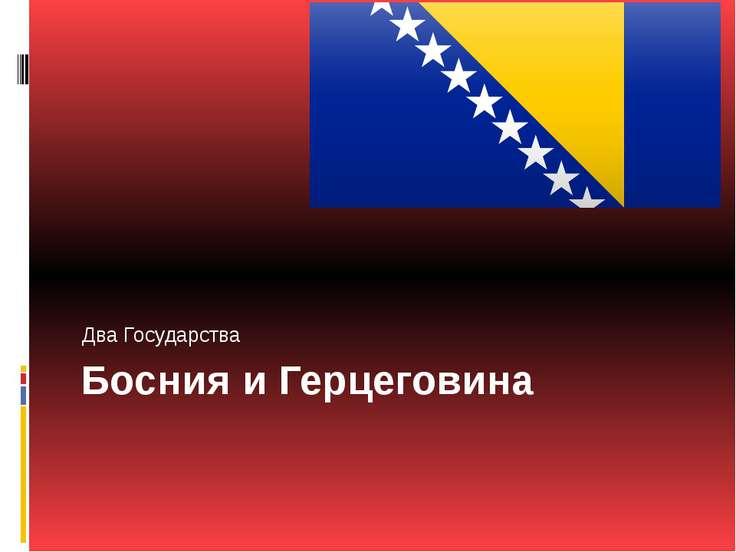 Босния и Герцеговина Два Государства
