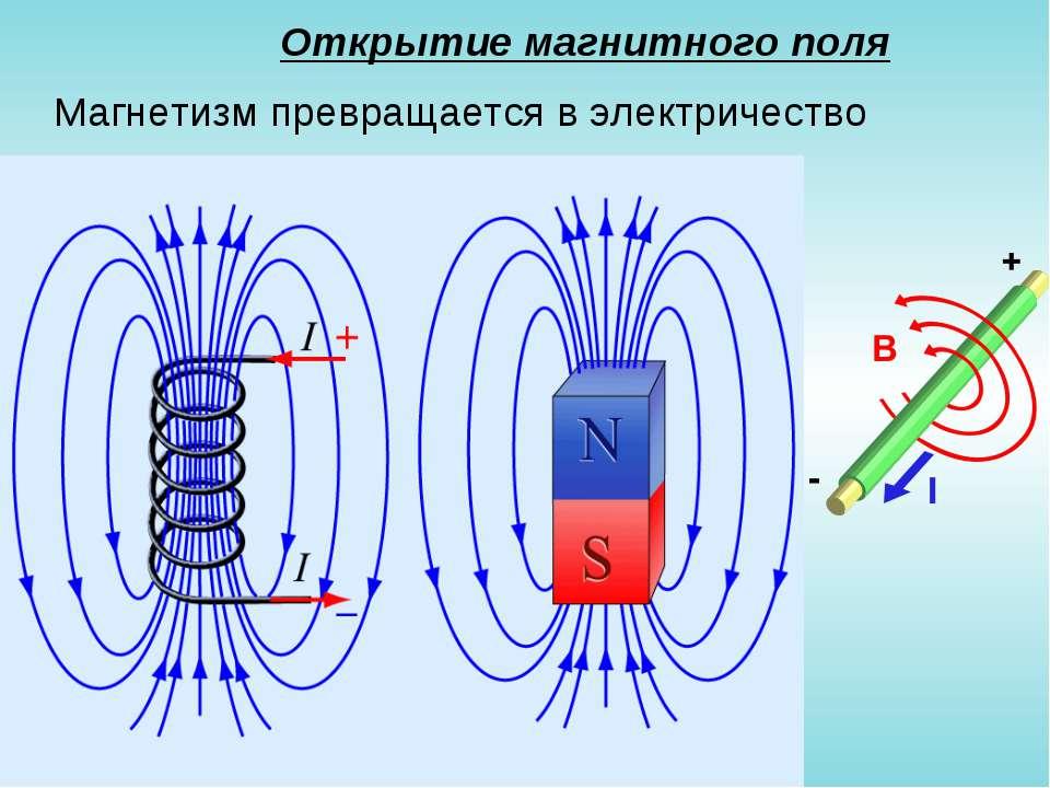 Открытие магнитного поля Магнетизм превращается в электричество