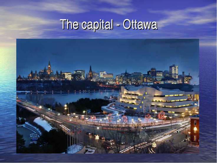 The capital - Ottawa