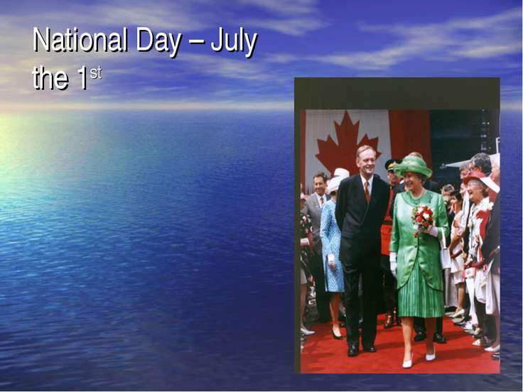 National Day – July the 1st
