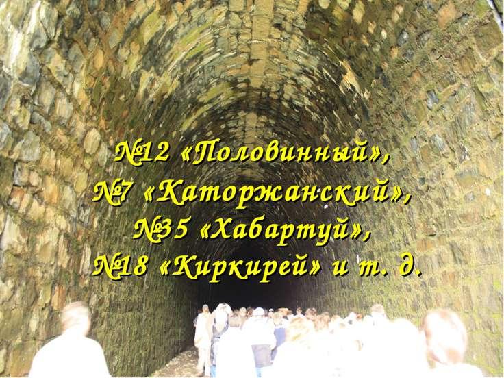 №12 «Половинный», №7 «Каторжанский», №35 «Хабартуй», №18 «Киркирей» и т. д.