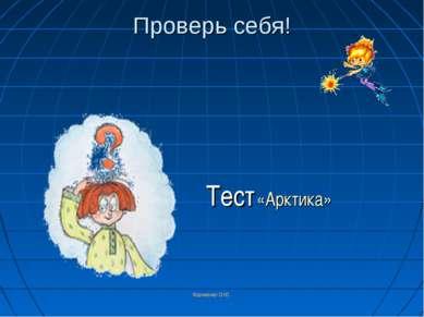 Корниенко О.Ю. Проверь себя! Тест «Арктика» Корниенко О.Ю.