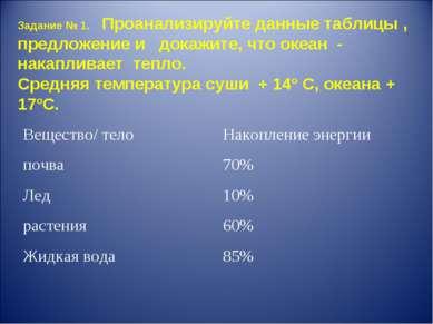 Задание № 1. Проанализируйте данные таблицы , предложение и докажите, что оке...