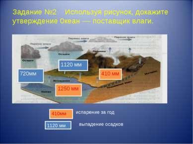 Задание №2 Используя рисунок, докажите утверждение 0кеан –– поставщик влаги. ...