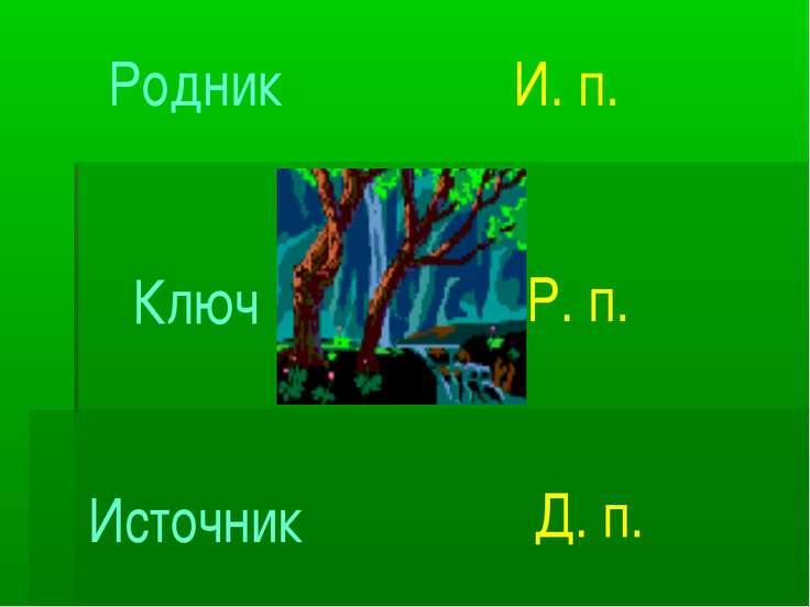 Родник Ключ Источник И. п. Р. п. Д. п.