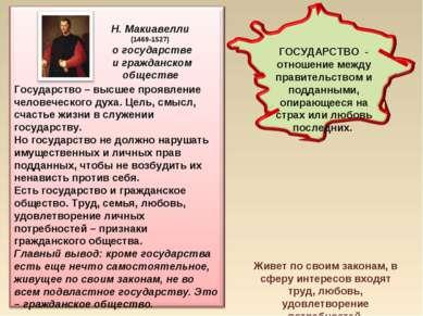 Н. Макиавелли (1469-1527) о государстве и гражданском обществе Гражданское об...