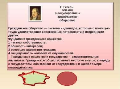Г. Гегель (1780-1831) о государстве и гражданском обществе