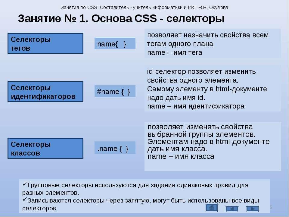 позволяет изменять свойства выбранной группы элементов. Элементам надо в html...