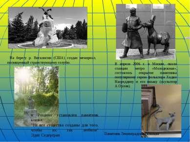На берегу р. Висконсин (США) создан мемориал, посвященный странствующему голу...