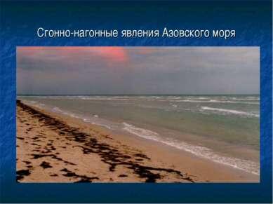 Сгонно-нагонные явления Азовского моря