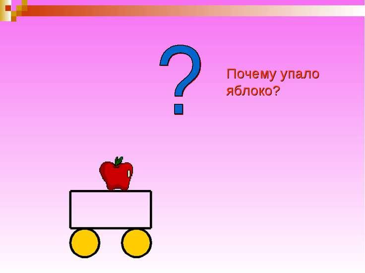 Почему упало яблоко?