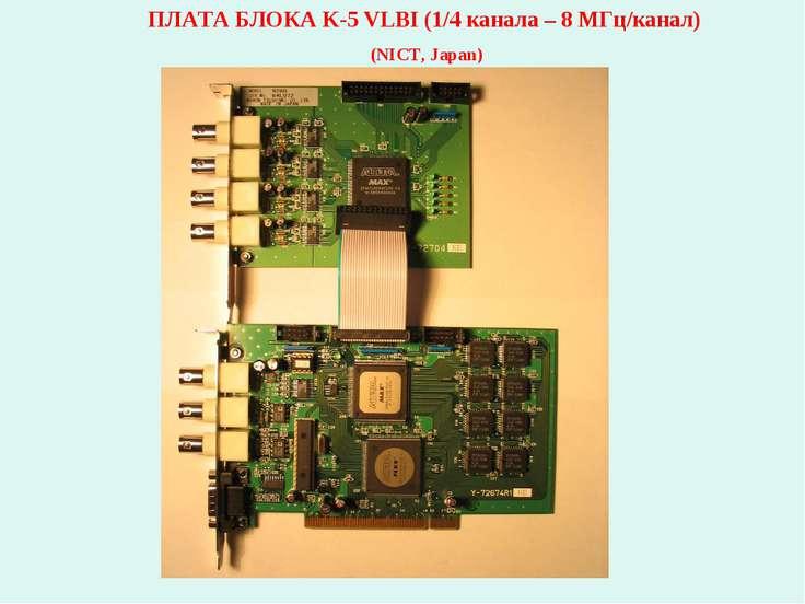 ПЛАТА БЛОКА K-5 VLBI (1/4 канала – 8 МГц/канал) (NICT, Japan)