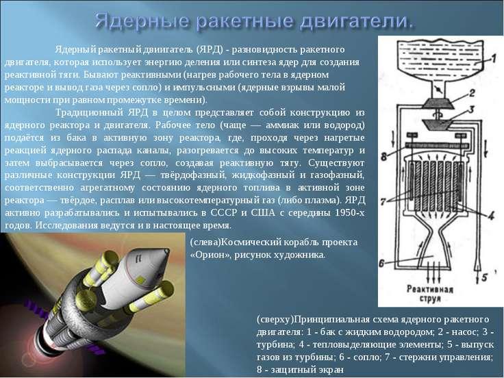 Ядерный ракетный двиигатель (ЯРД) - разновидность ракетного двигателя, котора...