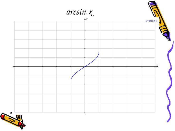 arcsin x