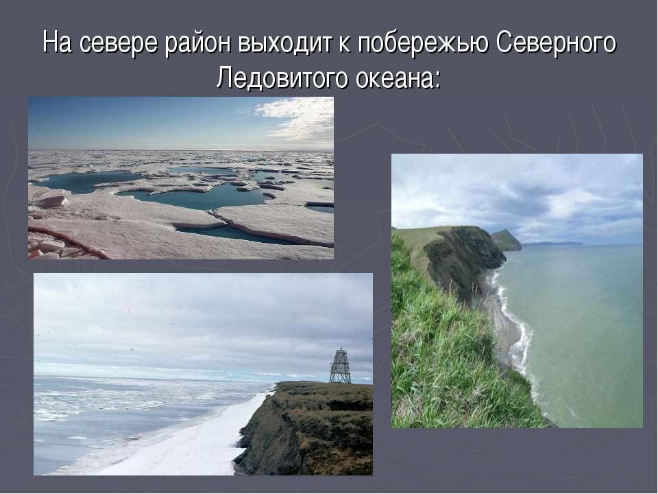 На севере район выходит к побережью Северного Ледовитого океана: