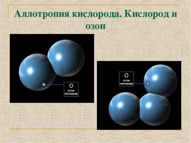 Аллотропия кислорода. Кислород и озон