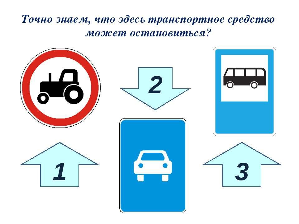 1 3 2 Точно знаем, что здесь транспортное средство может остановиться?