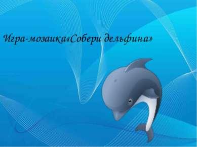 Игра-мозаика«Собери дельфина»