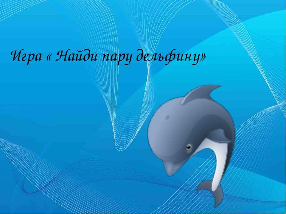 Игра « Найди пару дельфину»