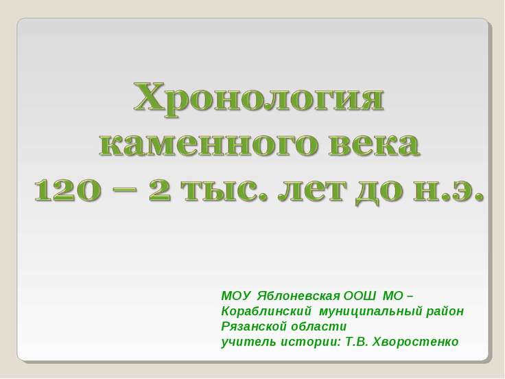 МОУ Яблоневская ООШ МО – Кораблинский муниципальный район Рязанской области у...