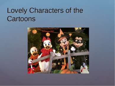 Lovely Characters of the Cartoons