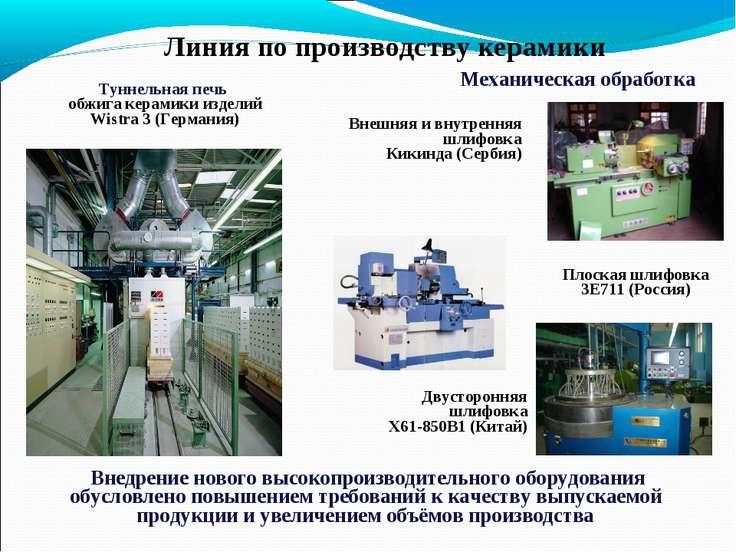 Внедрение нового высокопроизводительного оборудования обусловлено повышением ...