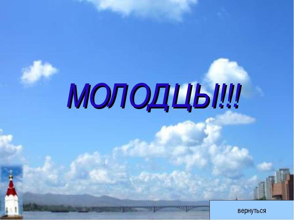 МОЛОДЦЫ!!! вернуться