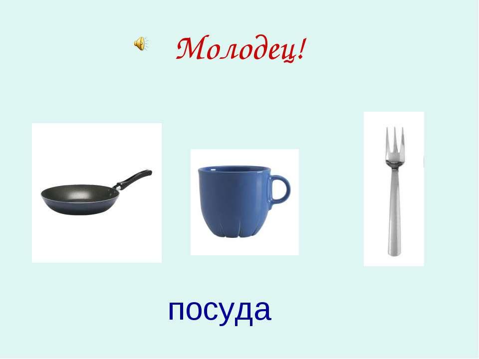 Молодец! посуда