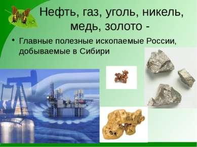 Нефть, газ, уголь, никель, медь, золото - Главные полезные ископаемые России,...
