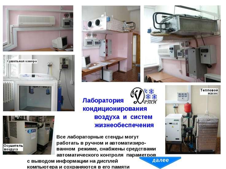 Лаборатория кондиционирования воздуха и систем жизнеобеспечения Все лаборатор...