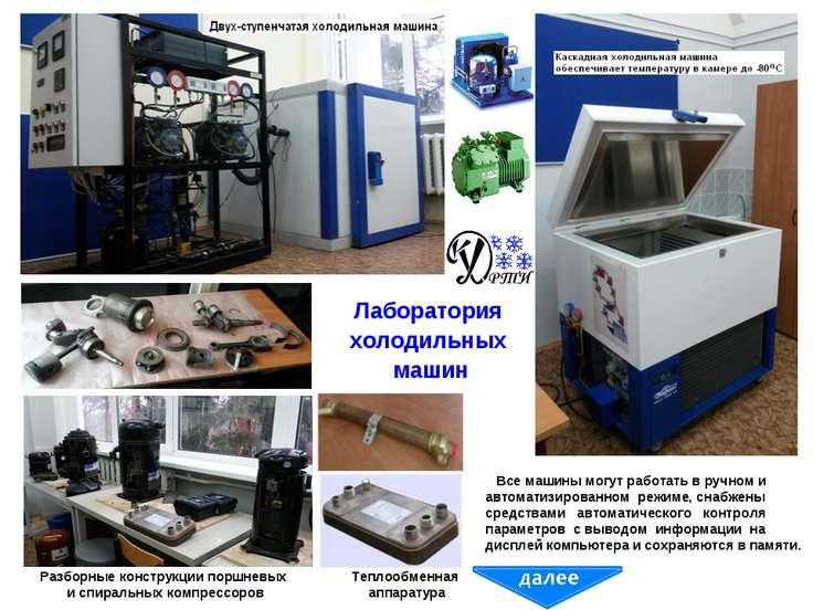 Лаборатория холодильных машин Теплообменная аппаратура Разборные конструкции ...