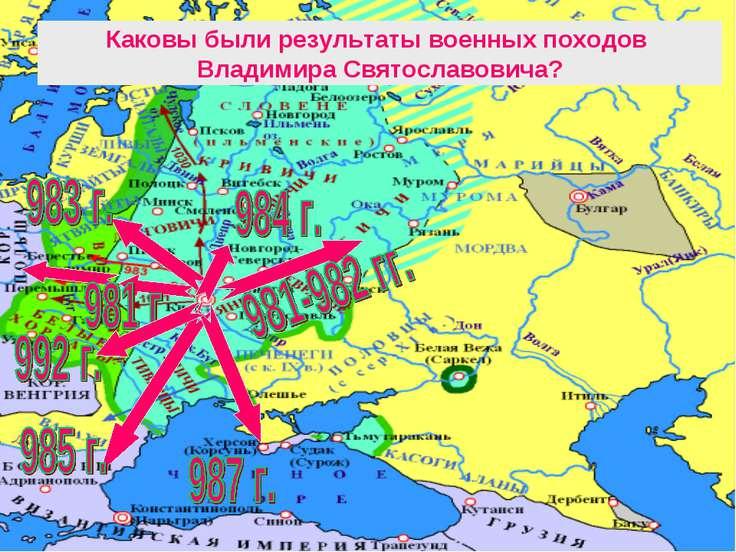 Каковы были результаты военных походов Владимира Святославовича?