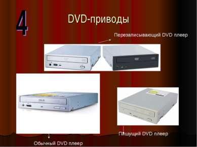 DVD-приводы Пишущий DVD плеер Обычный DVD плеер Перезаписывающий DVD плеер