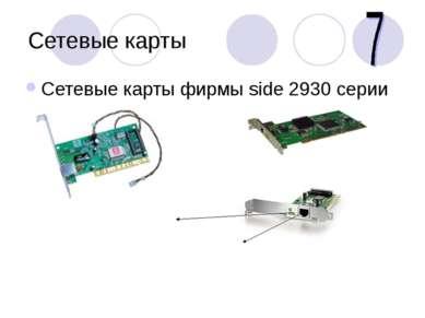 Сетевые карты Сетевые карты фирмы side 2930 серии Разъем для сетевого шнура С...