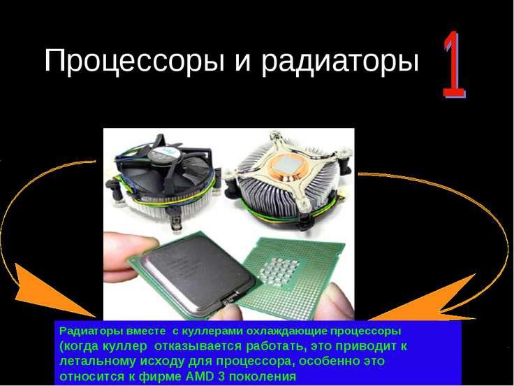 Процессоры и радиаторы Радиаторы вместе с куллерами охлаждающие процессоры (к...