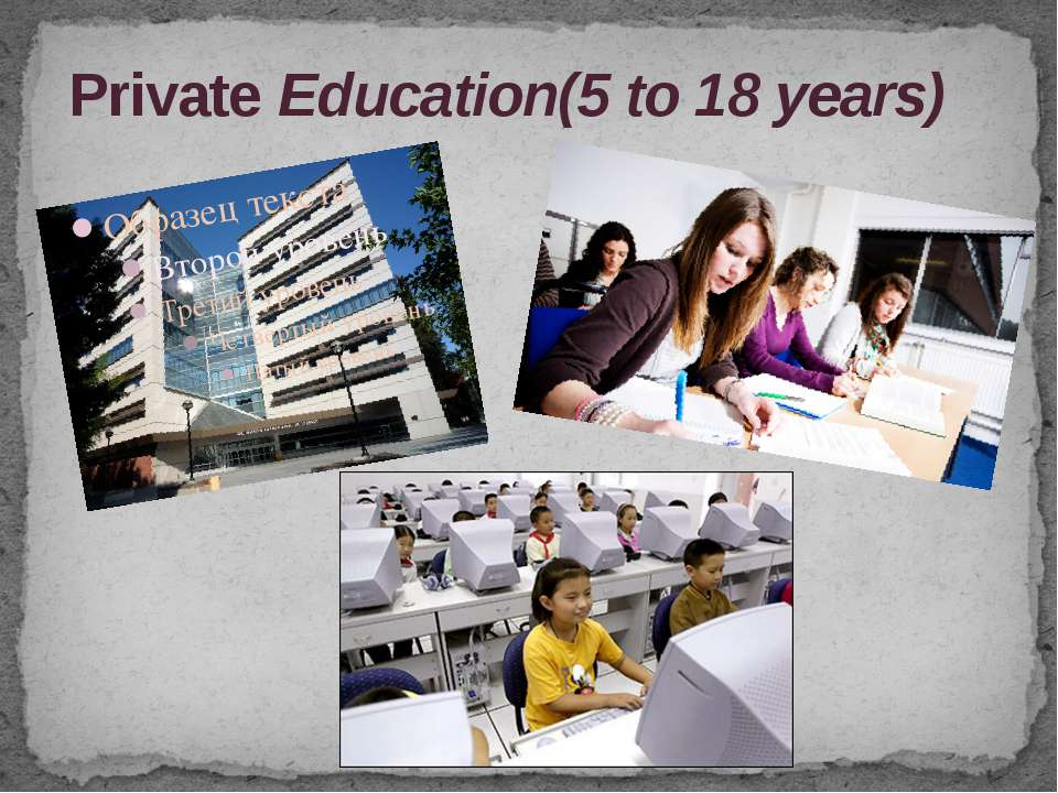 Private Education(5 to 18 years)