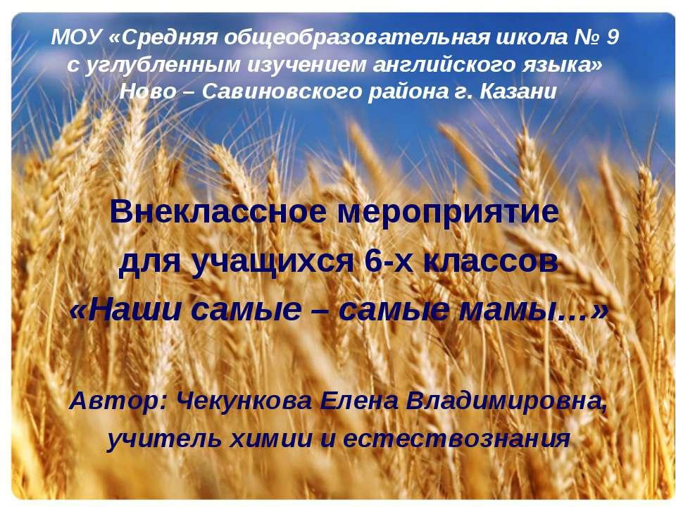 МОУ «Средняя общеобразовательная школа № 9 с углубленным изучением английског...
